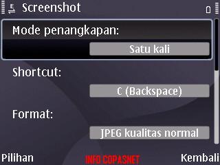 Applikasi screenshot untuk phonsel symbian s60
