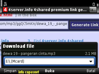 Download file di 4shared via hp