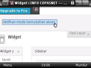 Cara edit widget pada wordpress melalui phonsel